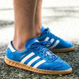 ADIDAS HAMBURG MENS BLUE LEATHER SUEDE SHOES JEANS CITY BERN