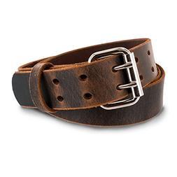 Hanks Legend - Men's Double Prong Leather Belt - Heavy Duty