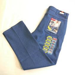 Wrangler Hero Jeans Mens 38 x 32 Stretch Flex Fit Waist Blue