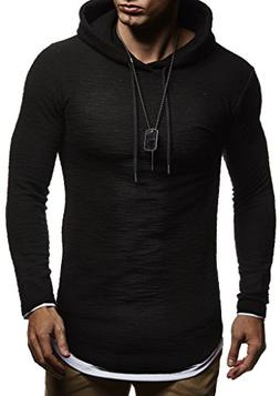 Leif Nelson Hoodie Pullover Mens Slim fit Long Sleeve t-Shir