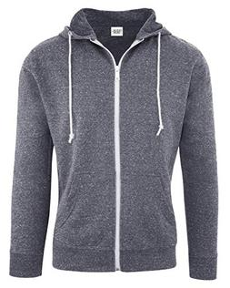 Casual Garb Hoodies for Men Snow Heather French Terry Full Z