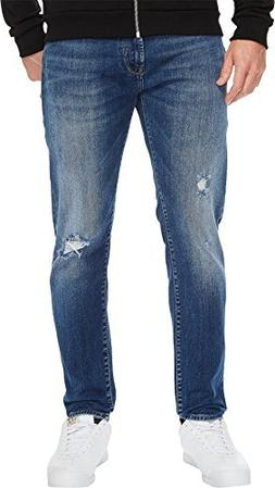Mavi Jeans  Men's Jake Mid Ripped in Blue Blue 29W x 32L