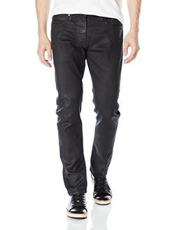 Mavi Men's Jake Regular-Rise Tapered Slim Fit Jeans,Black ON