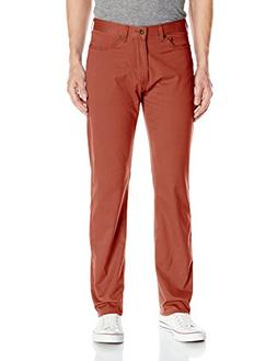 Dockers Men's Jean Cut Straight Fit Pant D2, Red Paint , 34W