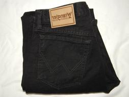Wrangler Jeans 30x32 Relaxed Fit Rugged Mens 35002OB Black D