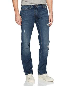 Calvin Klein Jeans Men's,Slim Straight Fit Denim Jean,Crashe