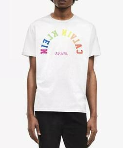 Calvin Klein Jeans  Men's White Big & Tall Pride T-Shirt