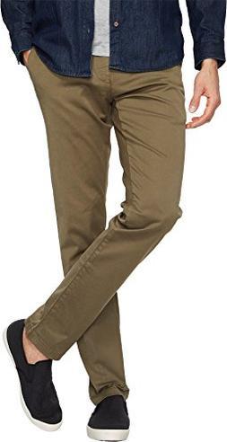 Mavi Jeans Men's Johnny Regular Rise Slim Chino in Sage Twil