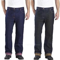 jeans men relaxed straight fit flannel lined
