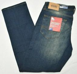 Izod Jeans Men's 34x30 Straight Fit Comfort Stretch Denim Da