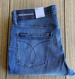 Calvin Klein Jeans Men's 34x32 Slim Straight Stretch Denim I