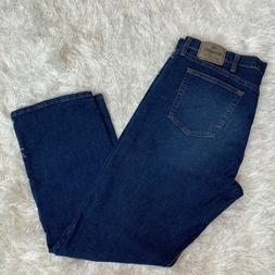 Wrangler Jeans Men's 36x32 Relaxed Fit Flex For Comfort