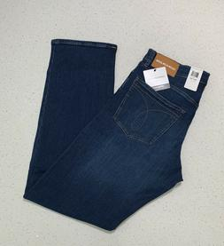 Calvin Klein Jeans Men's CKJ035 Straight Fit Jeans-Aude Blue