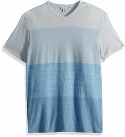 Calvin Klein Jeans Men's Heather Colorblocked V-Neck T-Shirt