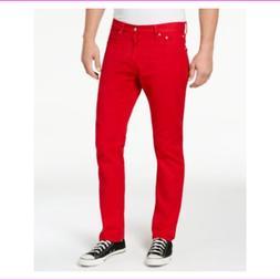 Calvin Klein Jeans Men's Iconic Slim-Fit Tango 38X32 Red