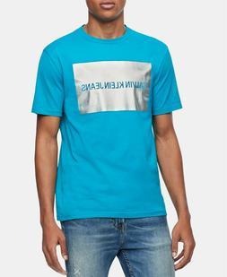 Calvin Klein Jeans Men's Metallic Institutional Logo Graphic