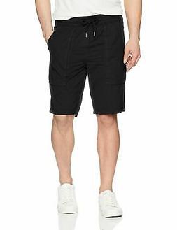 Calvin Klein Jeans Men's POPLIN Utility Short, Bla - Choose