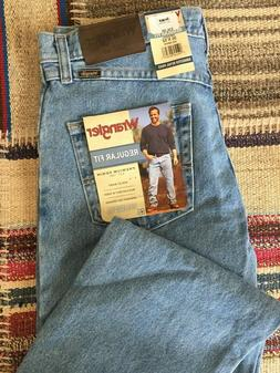 "Wrangler Jeans, Men's, Regular Fit, ""Mid Denim"" Blue, Multip"