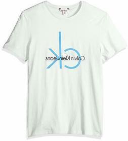 Calvin Klein Jeans Men's Short Sleeve Classic Ck Logo Crew N