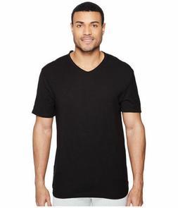 Calvin Klein Jeans Men's Short Sleeve Mixed Media V-Neck T-S