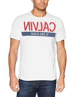 Calvin Klein Jeans Men's Short Sleeve T-Shirt Knockout Strip