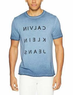 Calvin Klein Jeans Men's Short Sleeve T-Shirt Reverse Calvin