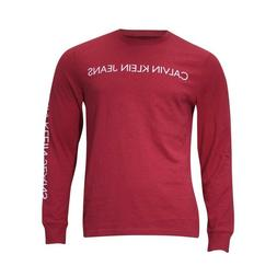 Calvin Klein Jeans Men's Slim Fit Crew Neck Long Sleeve Logo