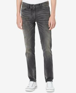 Calvin Klein Jeans Men's Slim-Straight Fit Stretch Lead Blac