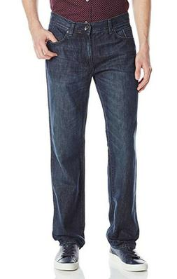 DKNY Jeans Men's Soho Relaxed Fit Jeans Style H4410001 Dark