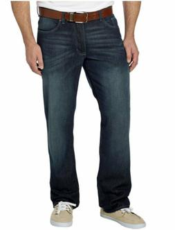 DKNY Jeans Men's Soho Relaxed Fit Jeans Medium Dark Wash