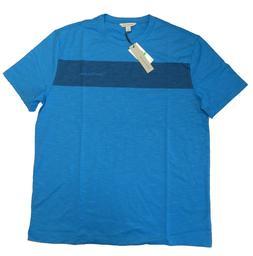 Calvin Klein Jeans Men's Tee Colorblock T-Shirt Deep Water B