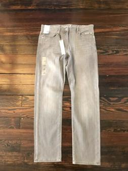Calvin Klein Jeans Men Size 34x32 Straight Slim Light Gray S