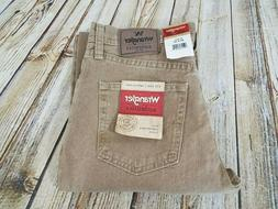 Wrangler Jeans Men Tan/Brown Size 30x32 NWT Straight