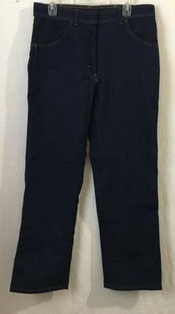 Wrangler Jeans Mens size 34 X 30 flex fit stetch dark indigo
