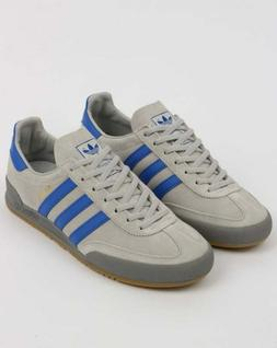 adidas Jeans MK2 Trainers in Grey & Hi Res Blue - retro sued