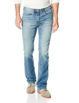 Calvin Klein Men's 32 Inch Inseam Modern Boot Cut Jean, Silv