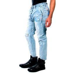 Teaspoon Jeans Mr Browns Drop Crotch Jeans Men Blue New