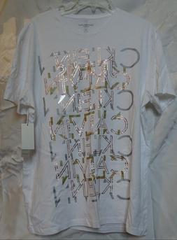Calvin Klein Jeans New Men's  Repeat Metallic -Print T-Shirt