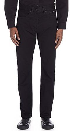 Calvin Klein Jeans Men's High Rise Straight Black Denim Jean