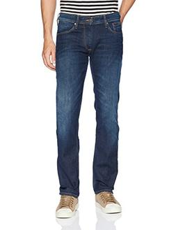 Tommy Jeans Men's Original Ryan Straight Fit Jeans, Dark Com