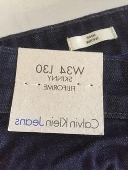 Calvin Klein Jeans Skinny Filiforme W34 L30 Dark Wash Button