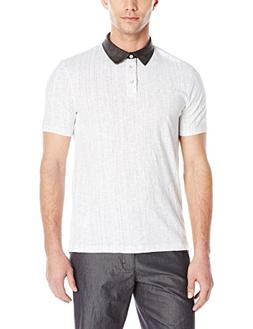 Calvin Klein Jeans Men's Slub Jersey Digit Polo Shirt, White