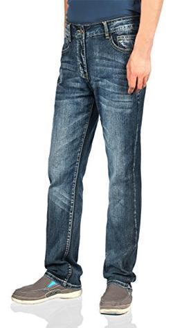 iLoveSIA Men's Jeans Straight leg Classic Regular Fit Size 3