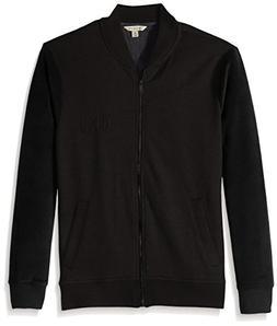 Calvin Klein Jeans Men's Velour Fleece Logo Bomber Jacket, B