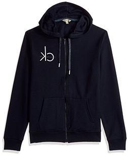 Calvin Klein Jeans Men's Full Zip Ck Logo Hoodie, Classic Na