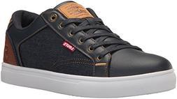 Levi's Men's Jeffrey 501 Denim Sneaker, Navy/Tan, 9 M US