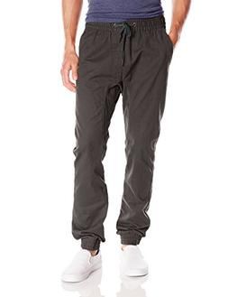 Southpole Men's Jogger Pants In Washed Cotton Twill Fabric,