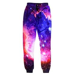 Fashion Galaxy Joggers Pants Men 3D Printing Colorful Casual