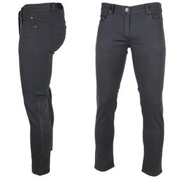 KAYDEN.K  CHARCOAL GREY Men's Skinny Jeans Twill Denim Pants