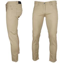 KAYDEN.K  KHAKI  Men's Skinny Jeans Twill Denim Pants Size 2